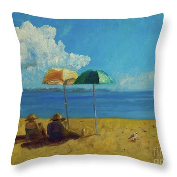 A Vacant Lot - Byron Bay Throw Pillow