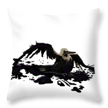 Throw Pillow featuring the painting A Valiant Attempt by Jann Paxton