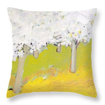 A Valley In Bloom Throw Pillow