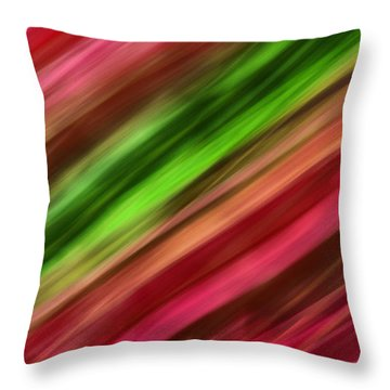 A Vein Of Green Throw Pillow
