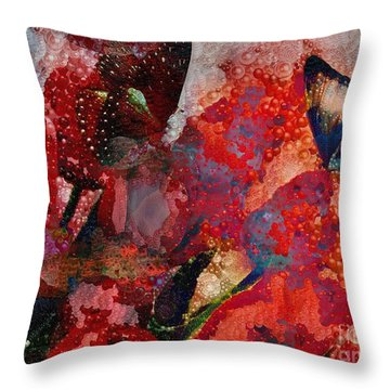 A Very Fairy Tale Of Two Butterflies In Pearlesque Throw Pillow