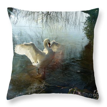 A Very Fine Swan Indeed Throw Pillow
