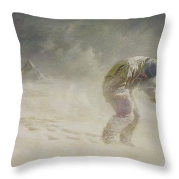 A Very Gallant Gentleman Throw Pillow by John Charles Dollman