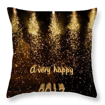 A Very Happy 2017 Throw Pillow