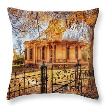 A Victorian Autumn Throw Pillow