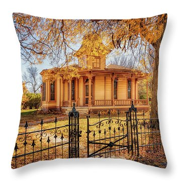 A Victorian Autumn Throw Pillow