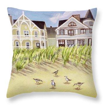A View Along Ocean Grove Beach Throw Pillow