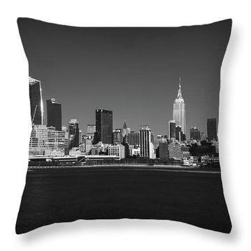 A View From Across The Hudson Throw Pillow by Eduard Moldoveanu