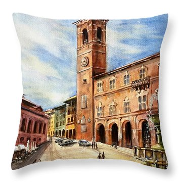 A View From Fabriano Throw Pillow