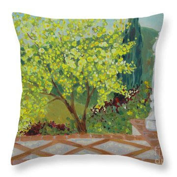 A View From Hearst Castle Throw Pillow