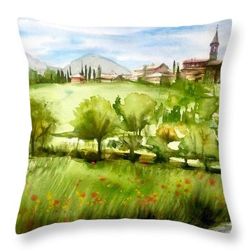 A View From Tuscany Throw Pillow