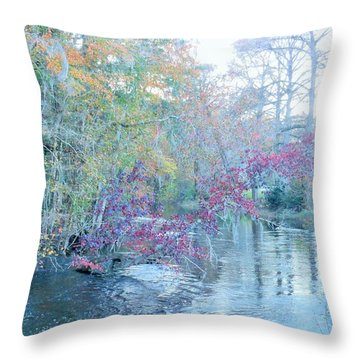 A View Of Autumn Throw Pillow by Kay Gilley