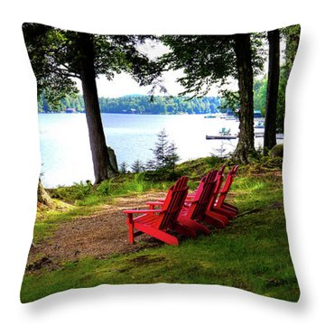 Throw Pillow featuring the photograph A View Of Big Moose Lake by David Patterson
