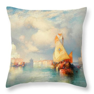 A View Of Doge's Palace Throw Pillow