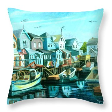 A View Of Ramblesville Throw Pillow