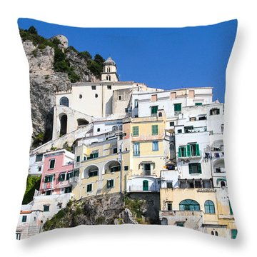 A View Of The Adratic Sea Throw Pillow