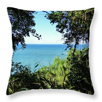 A View Of The Atlantic Ocean Throw Pillow