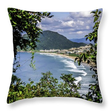 A View Of The Beach Throw Pillow