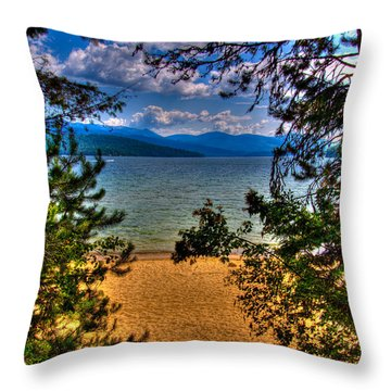 A View Of The Lake Throw Pillow by David Patterson