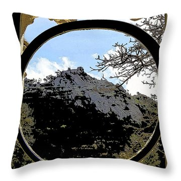 A View Of The Moorish Castle Throw Pillow