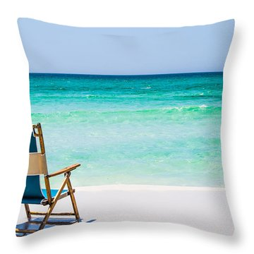 A View Of The Ocean Throw Pillow by Shelby  Young