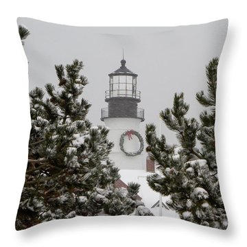 A View Of The Portland Head Light Throw Pillow