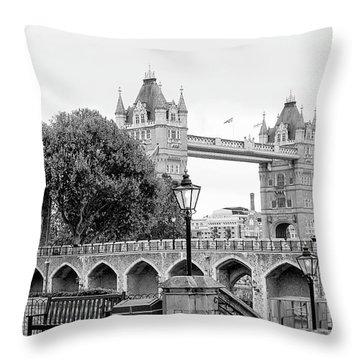 A View Of Tower Bridge Throw Pillow