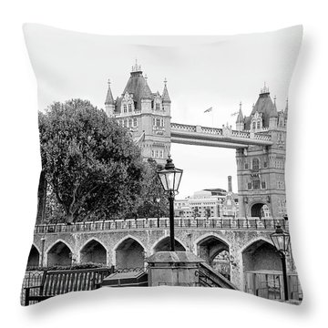 A View Of Tower Bridge Throw Pillow