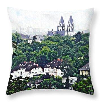 A View Of Wiesbaden Throw Pillow by Sarah Loft
