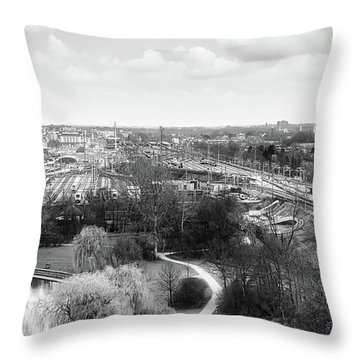 A View On Ghent Throw Pillow