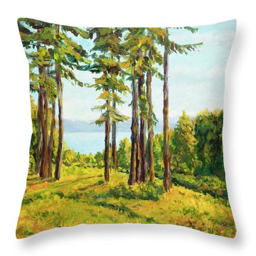 A View To The Lake Throw Pillow