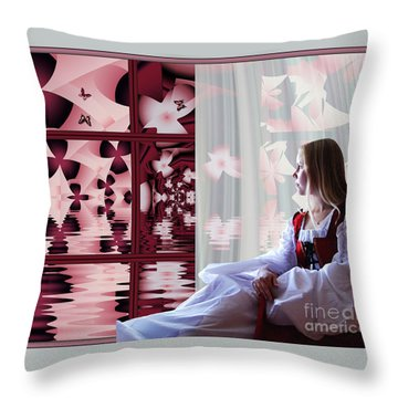 A View To The Water Garden Throw Pillow