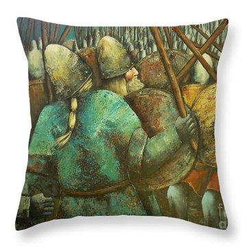 A Viking Skirmish Throw Pillow