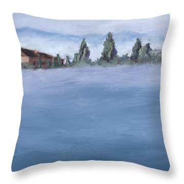 A Villa In The Mist Throw Pillow