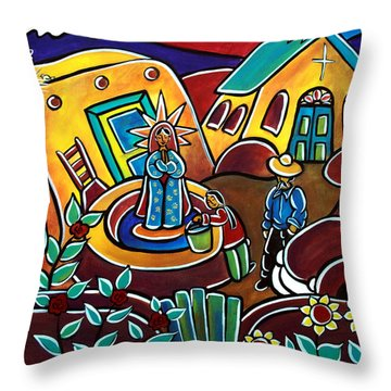 A Village For Our Lady Throw Pillow
