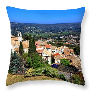 Throw Pillow featuring the photograph A Village In Provence by Olivier Le Queinec