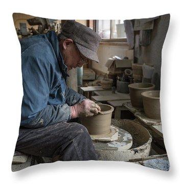 A Village Pottery Studio, Japan Throw Pillow