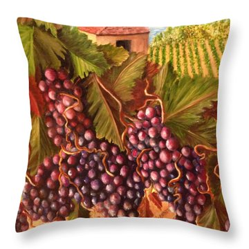 A Vineyard  Throw Pillow