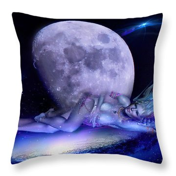 A Visit From Venus Throw Pillow