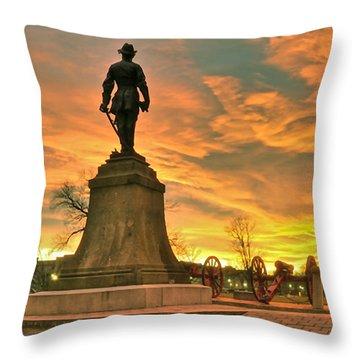 A Vmi Sunset Throw Pillow