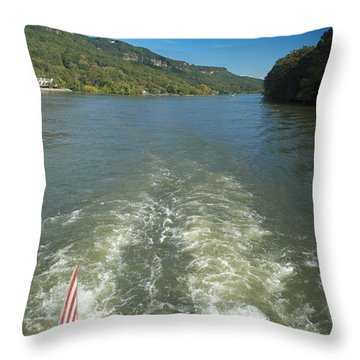 A Wake, River And Sky Col Throw Pillow