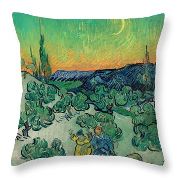 A Walk At Twilight Throw Pillow