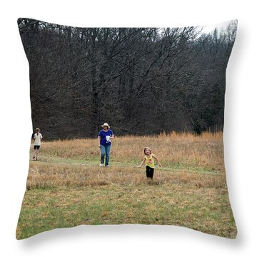 A Walk In A Field Throw Pillow