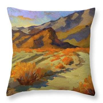 A Walk In La Quinta Cove Throw Pillow by Diane McClary