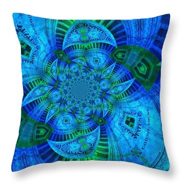 A Walk In The Gallery Throw Pillow by Chad and Stacey Hall