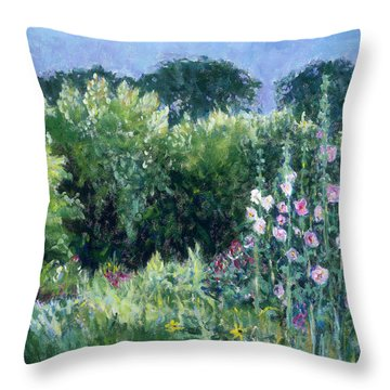 A Walk In The Garden Throw Pillow by Tara Moorman