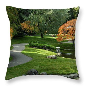 A Walk In The Garden Throw Pillow