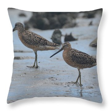 A Walk In The Mud... Throw Pillow