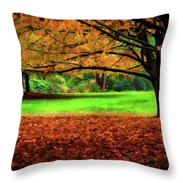 A Walk In The Park Throw Pillow by Jordan Blackstone