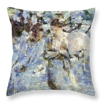 A Walk In The Park Throw Pillow by Shirley Stalter